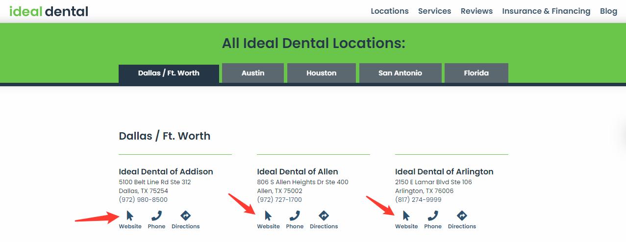 Multi-location dental practice
