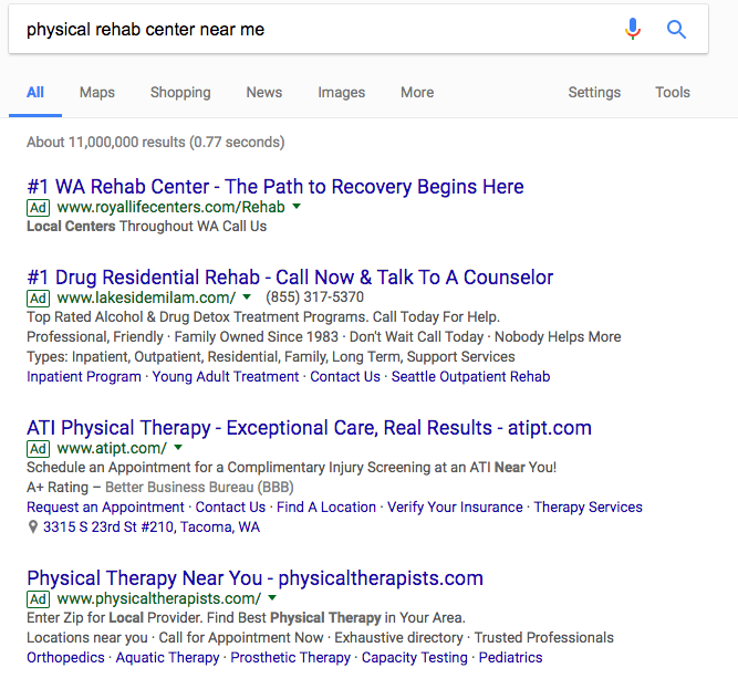 Paid Search (PPC) Strategies for Drug & Rehabilitation Centers