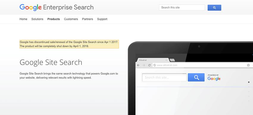Google website down