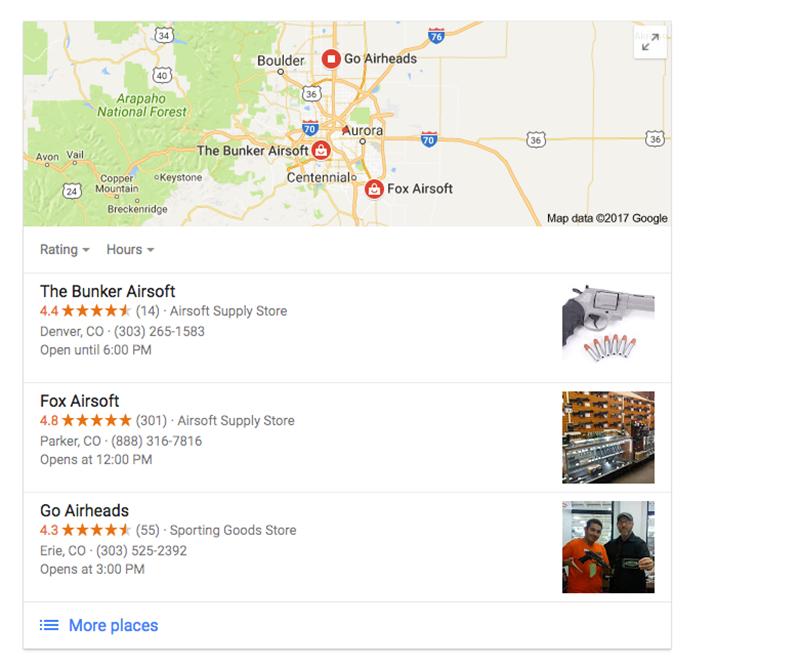 lots of google reviews