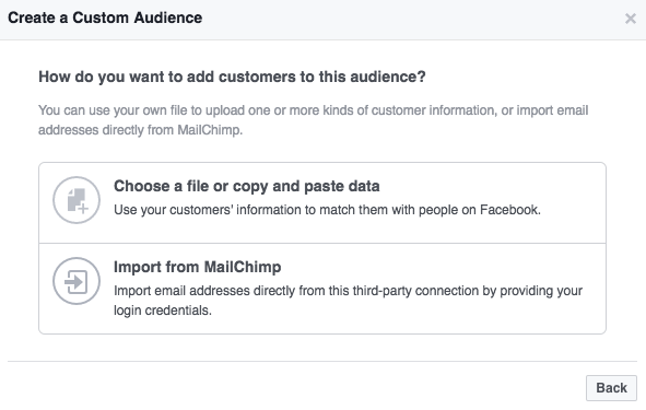 add customers to audience