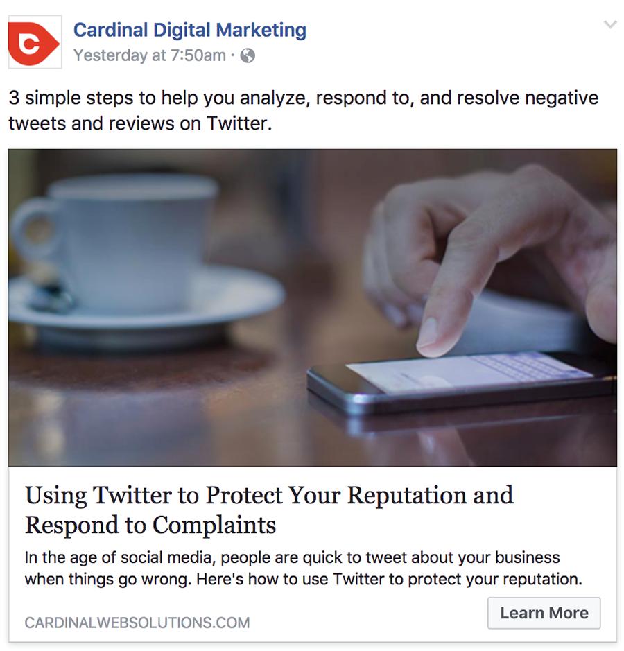 cardinal facebook ad