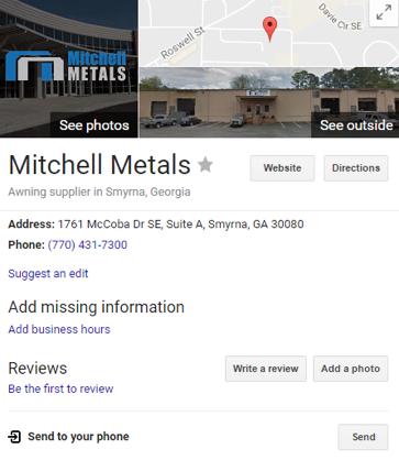 google my business mitchell metals