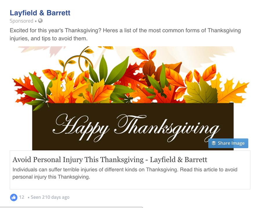 Layfield & Barrett ad