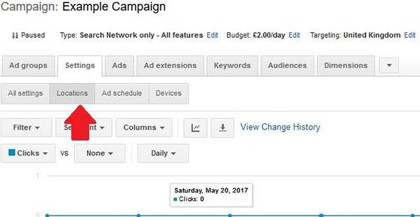 adwords campaign example