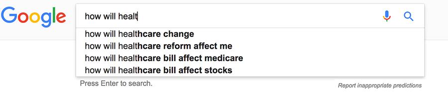 google autofill