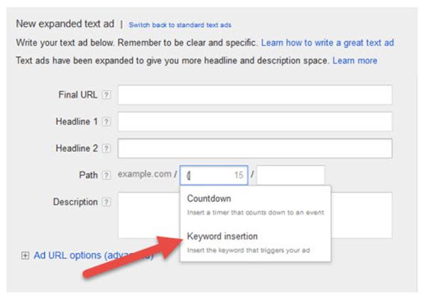 select keyword insertion