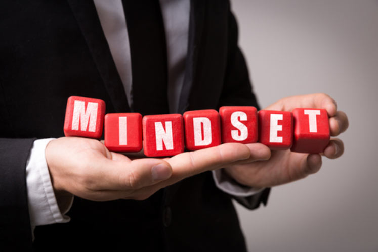 photo of the word mindset
