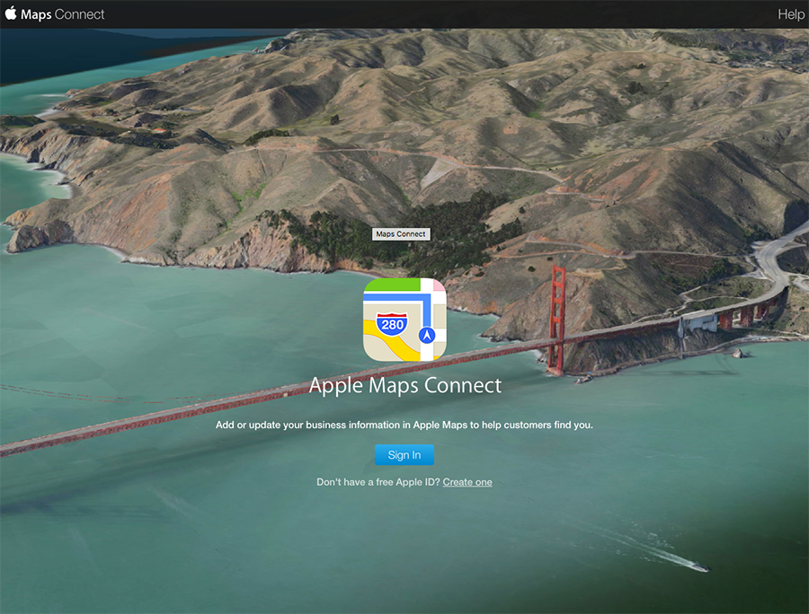apple maps connect