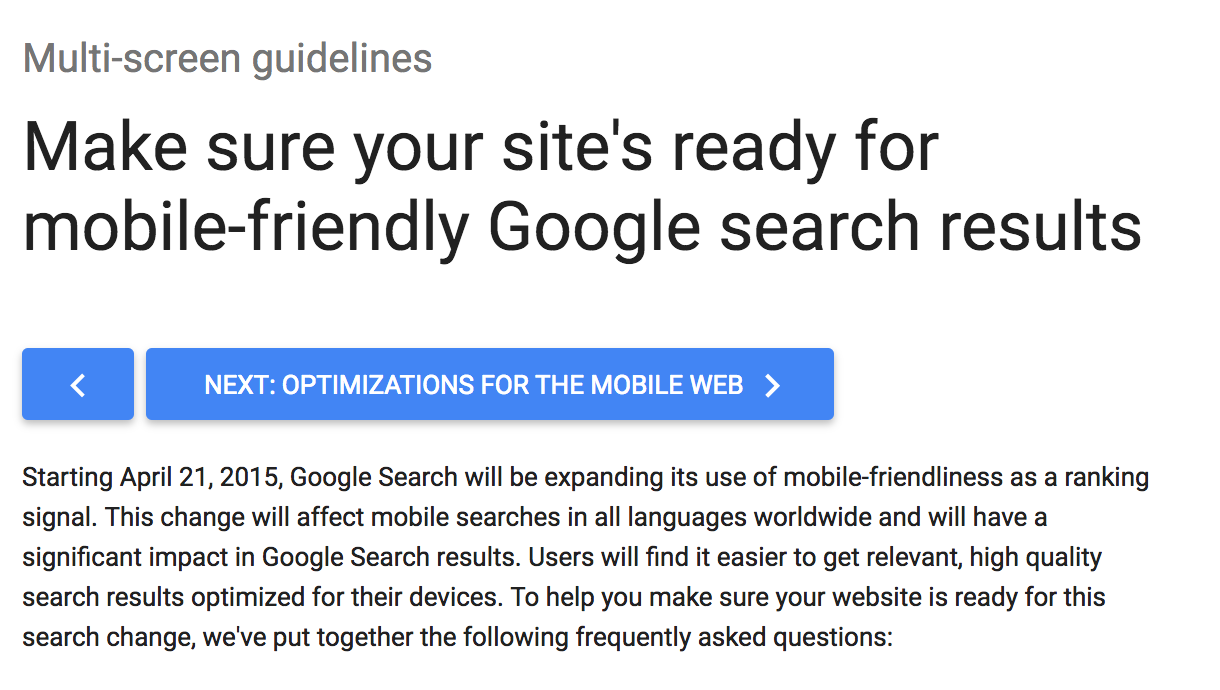 Google Tip - Optimize Your Website for Mobile Viewers