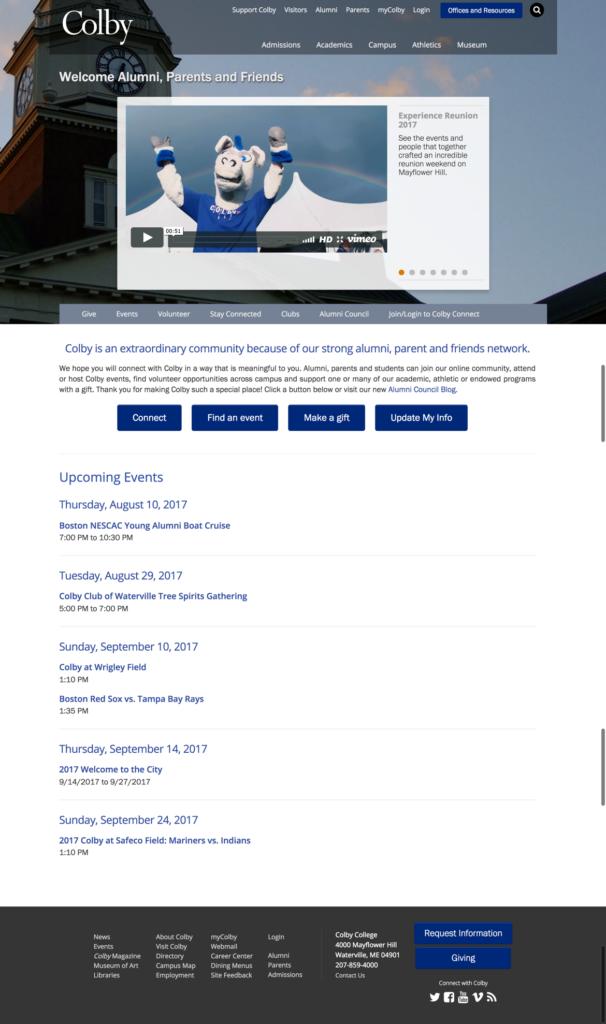 Creating Content Hubs for University Website