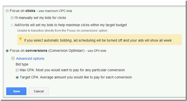 Yoiu have to take a proactive approach when running CPA bidding strategy