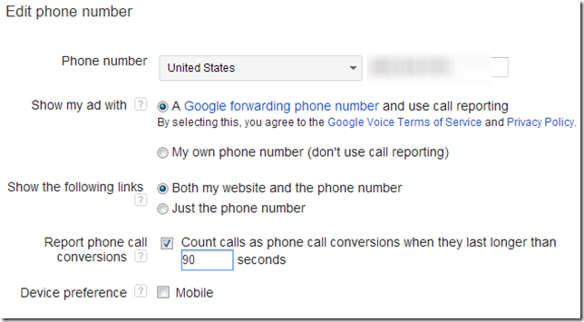 Utilize call extensions