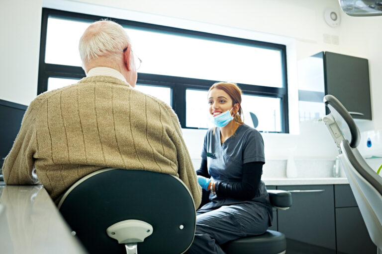 Dental care for elderly patients