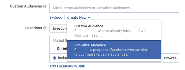 Creating lookalike audience