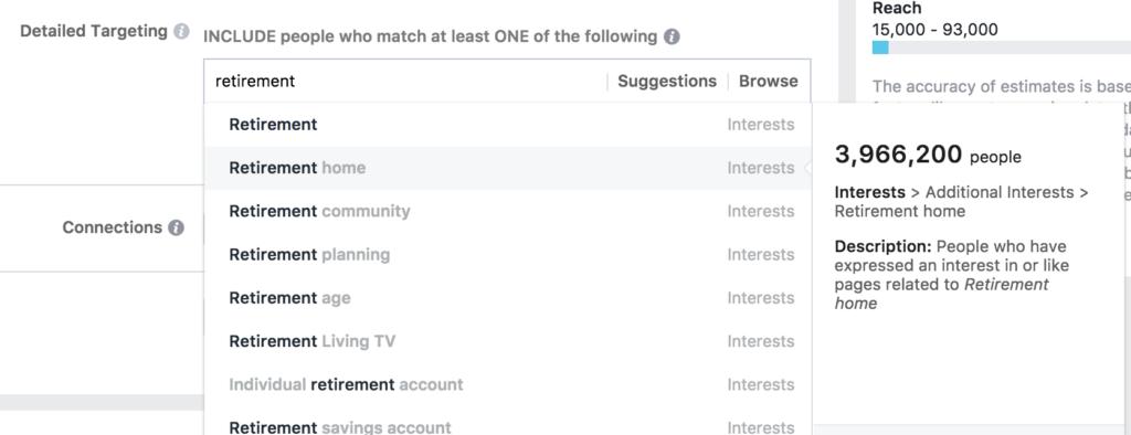 Facebook audience targeting keyphrase suggestion tool