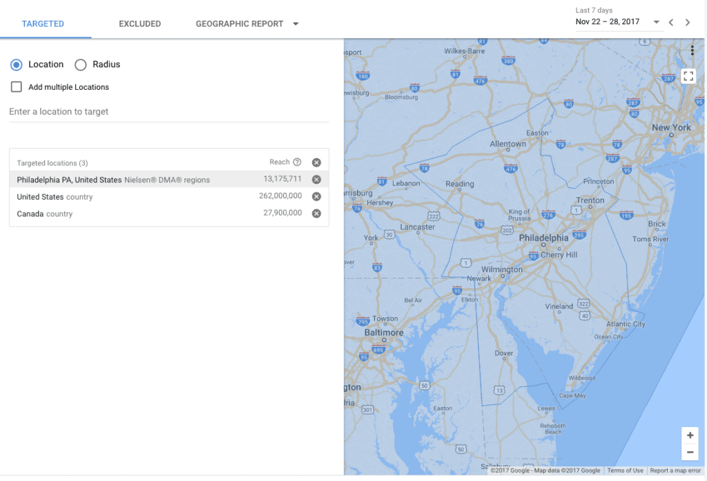 You can use existing location optimized landing pages for your Google AdWords Campaign