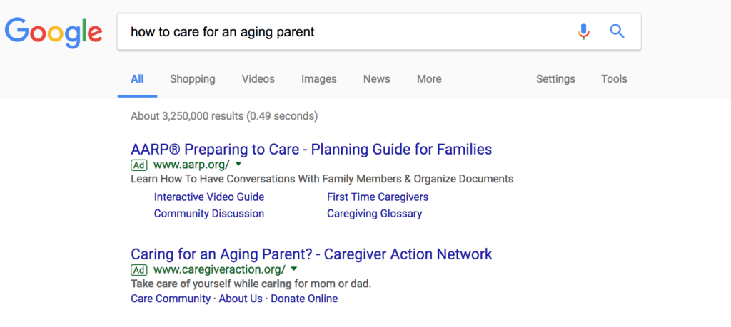 Paid ads goes to the top of search results page