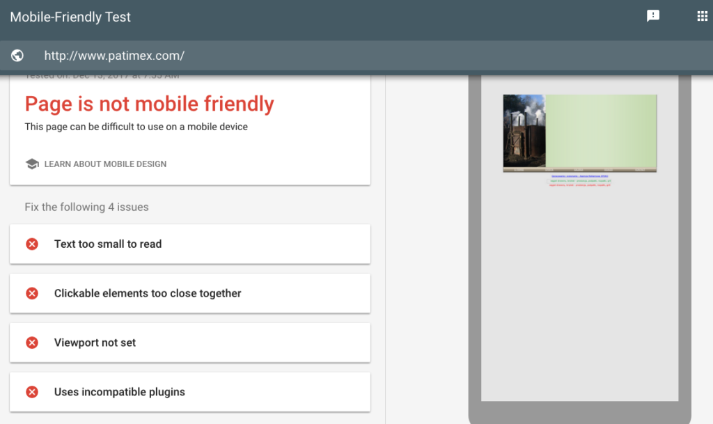Use google mobile friendly testing tool