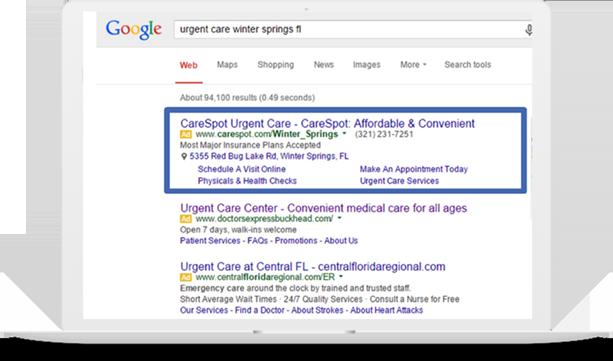 Care Spot Google AdWords