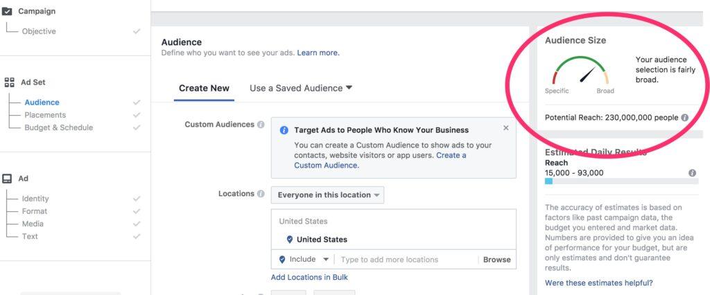 Facebook Audience Indicator