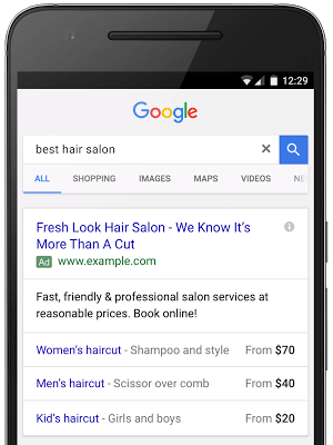 Recently, mobile first company, Google has launched the pricing extension for mobile devices