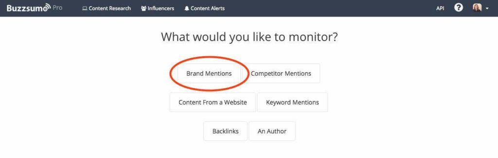 Buzzsumo Tracking Brand Mentions