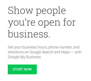 Create your google my business listing
