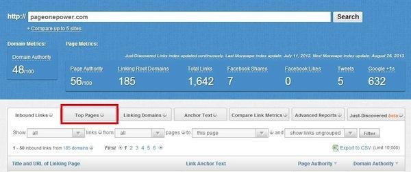 Moz Link Explorer, finding broken links
