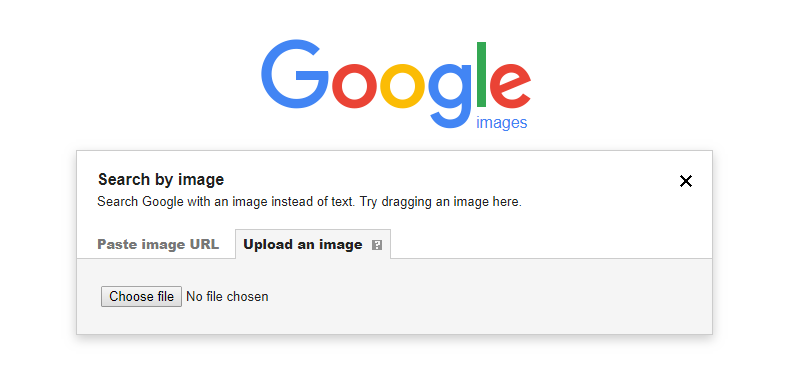 Google Image Search, upload image from computer