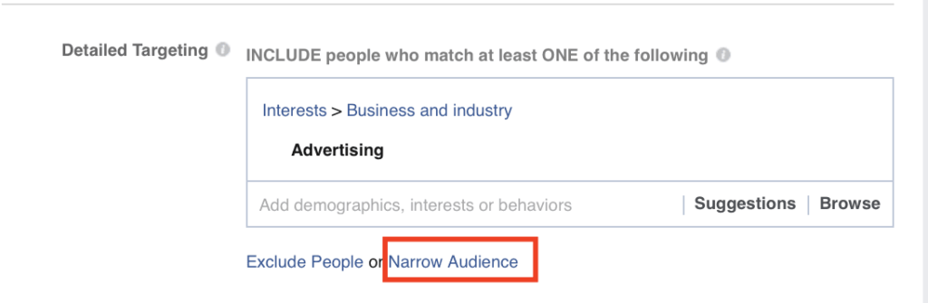 Narrow Audience Option