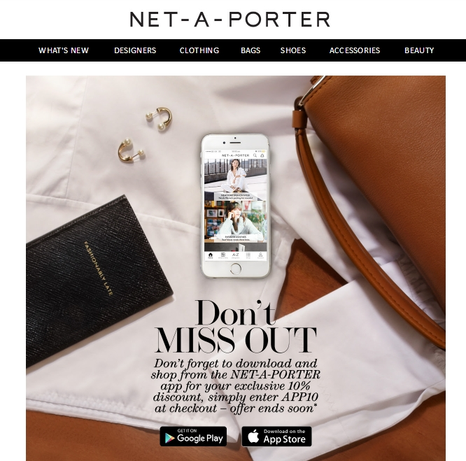Net a Porter omnichannel marketing showcase