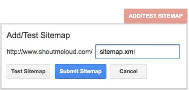 Enter sitemap address and click submit