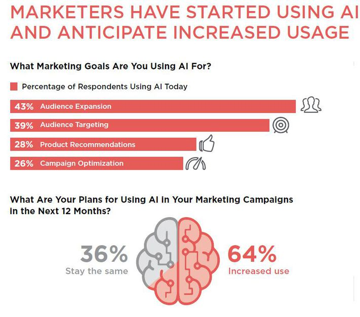 Marketers expect increase in AI usage in marketing campaigns