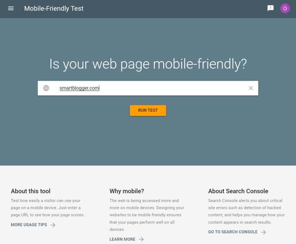 Test your website responsiveness online with Google Mobile Friendly Test