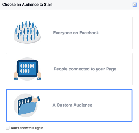 Facebook Ads Campaign - Creating Audience