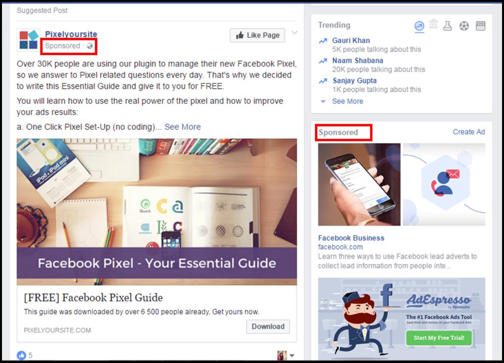 Facebook Pixel, Facebook Ads