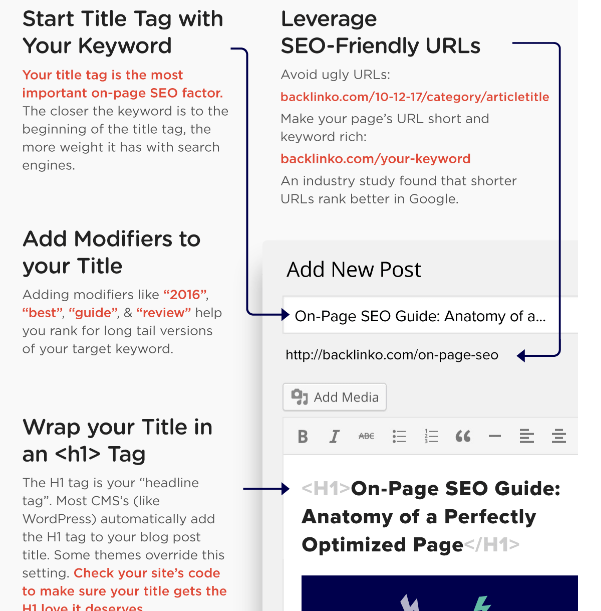 Infographic an Optimized Page