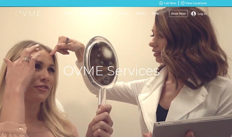 OVME Website Screenshot