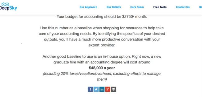 DeepSky Accounting Calculator