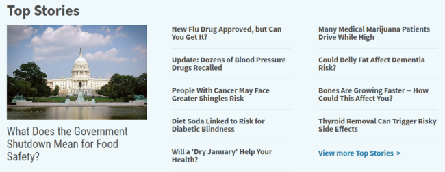 Incorporate Latest Health Related News