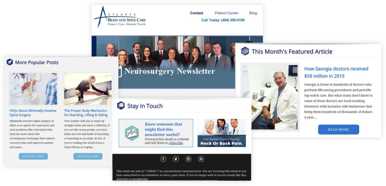 Atlanta Brain and Spine Website Overview