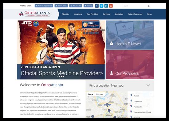 OrthoAtlanta Website