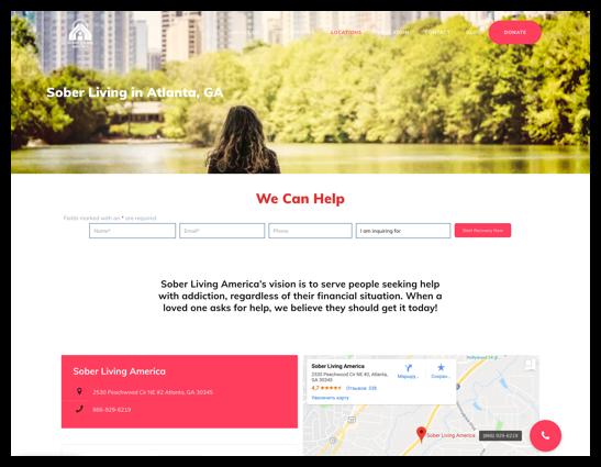 Sober Living Website