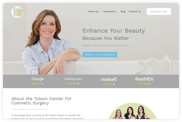 Tolson Website Digital Marketing Results