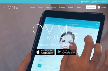 Med Spa Website on Tablet
