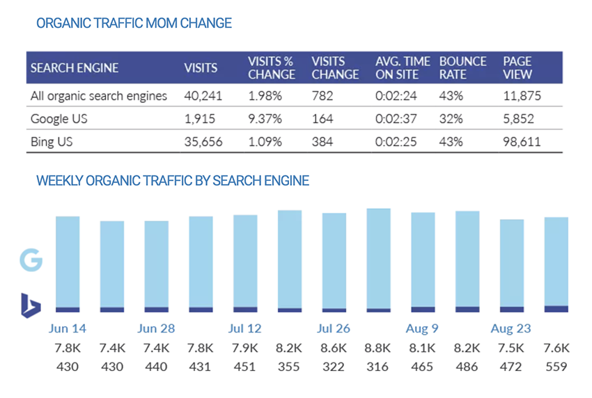 Organic Traffic Results