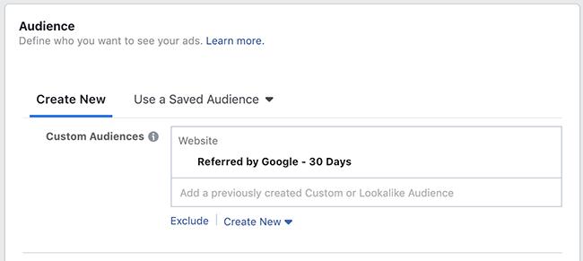 Facebook Website Custom Audience Targeting