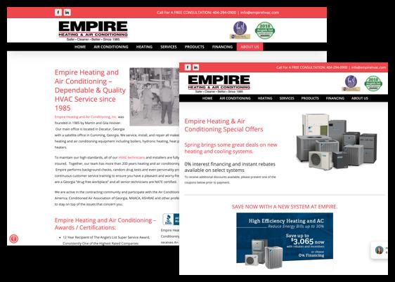 EMP Redesigned Website