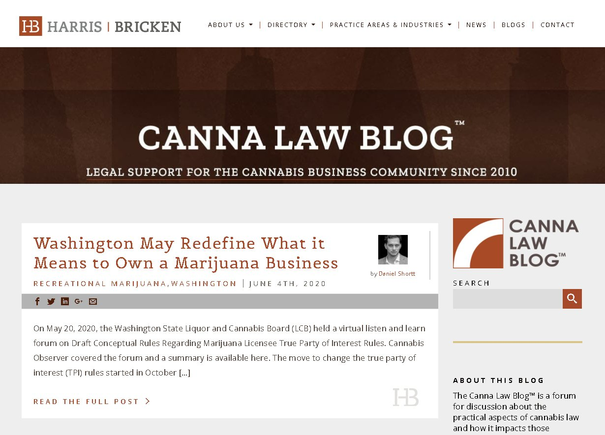example if a niche legal blog